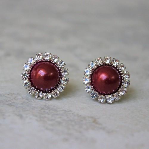 fashion Wine pearl earrings ~ Great...