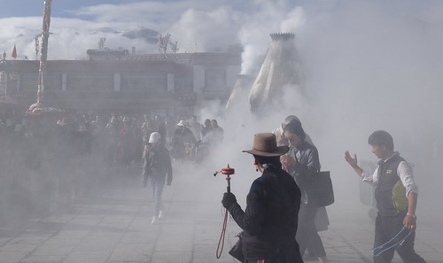 Clouds of incense smoke fills the Barkhor Street, Tibet 2017 | by reurinkjan