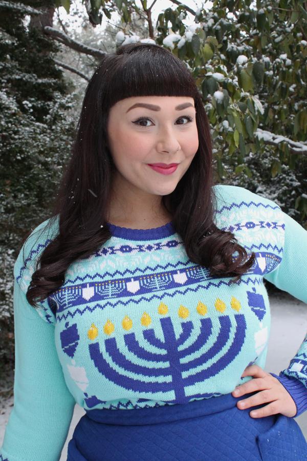 menorah sweater