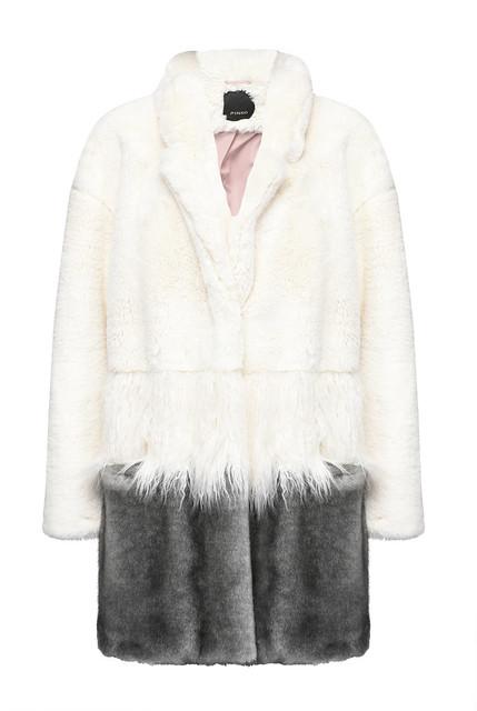 Pinko abrigo bicolor