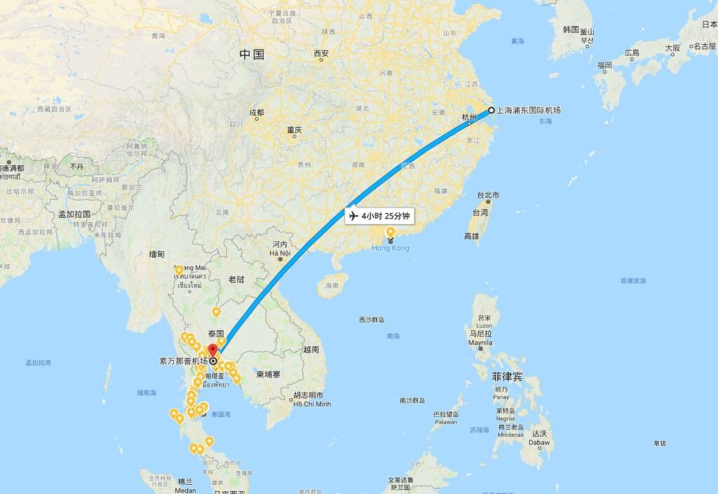 曼谷航空上海浦东机场飞曼谷素万那普机场