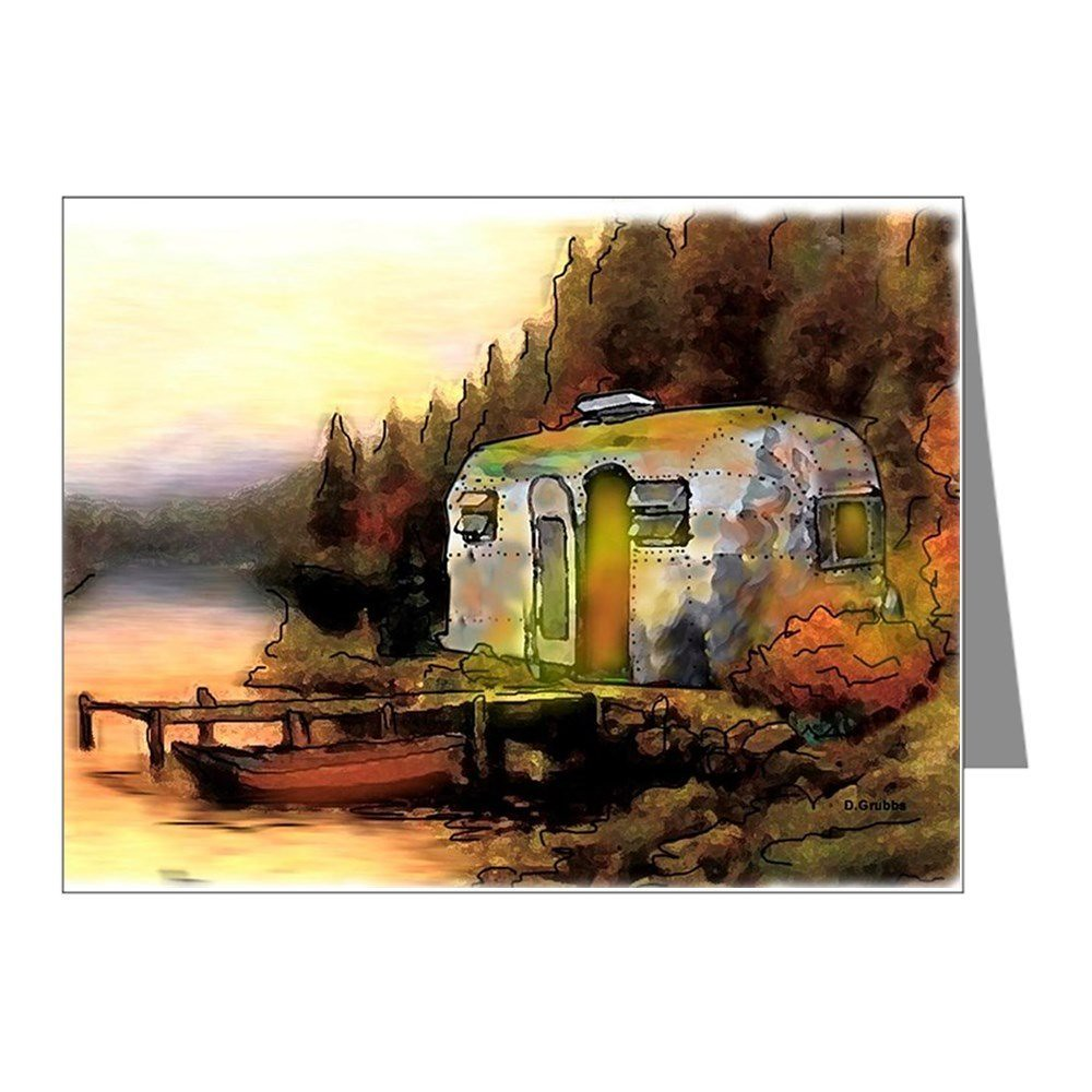 Airstream Camping - Blank Note Cards (Pack of 20) Matte