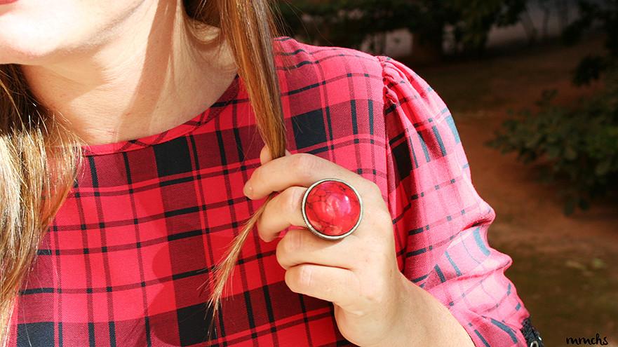 anillo rojo XXL