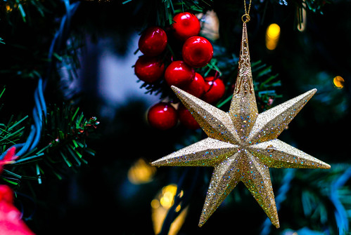Gold Stars Christmas Ornement | by wuestenigel