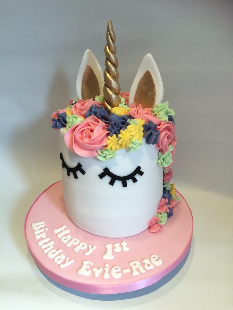 Unicorn Head Cake 1st Birthday