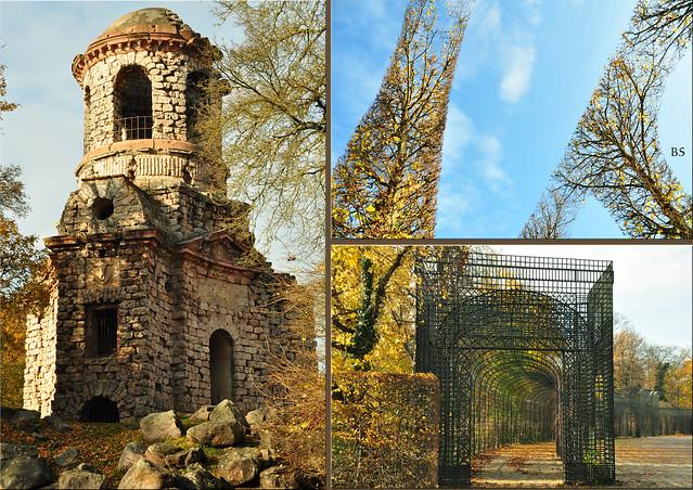 Impressionen Schwetzinger Schlossgarten November 2017: Künstliche Ruinen, Merkur-Tempel, weiße Brücken, Laubengänge ... Brigitte Stolle Mannheim
