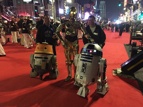 as c 3po and william miyamoto and chopper along with scores of members from the 501st and rebel legions for the 2017 hollywood christmas parade