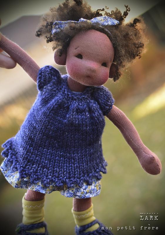 "Lark-9"" natural fiber art doll by Mon Petit Frere"