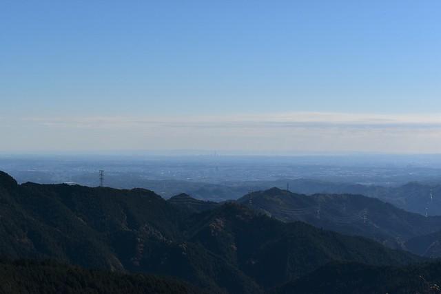 御岳山展望台から眺める東京都心