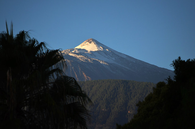 Snow on Mount Teide, Nov 2013