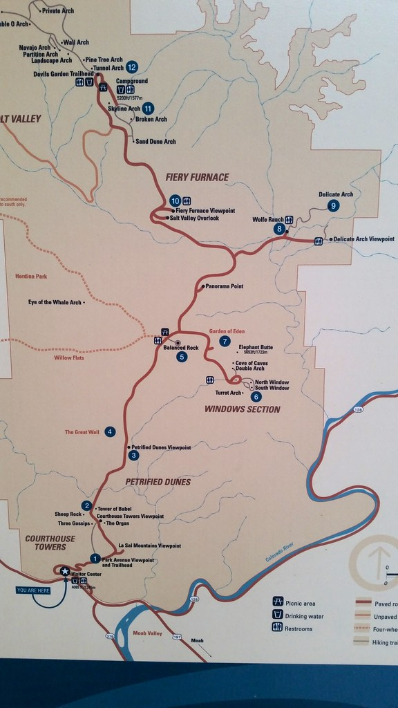 Arches National Park Map | The visitor center was not open w… | Flickr