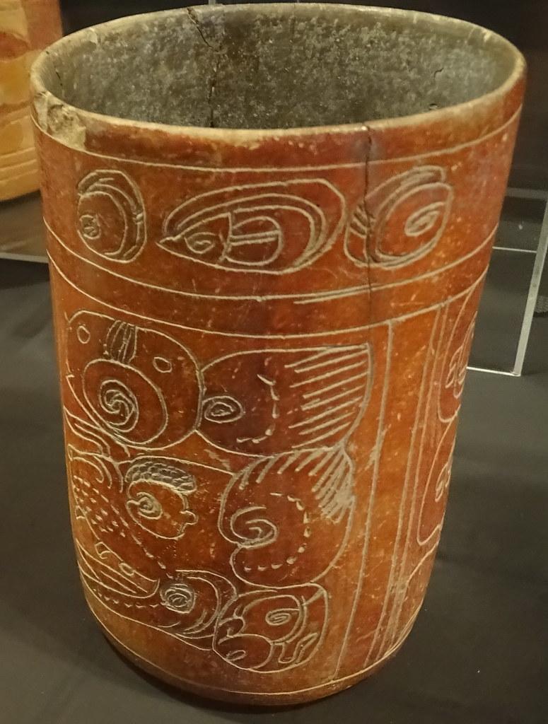 Vaso Con Dibujo De Jaguar Ceramica Maya Exposicion Antiguo Flickr