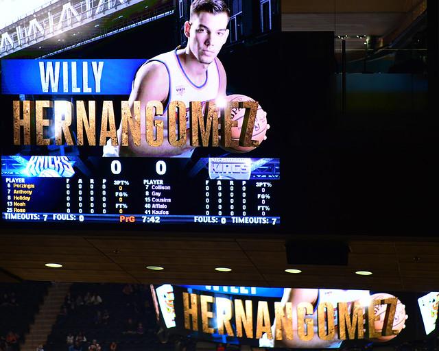 Willy Hernández en la presentación de los Knicks en el Madison Square Garden