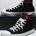 Dr. X Romanelli ''Beetle Bailey Vs. Popeye'' Wool - Black, White, Messange Blue & Red Hi 129361C