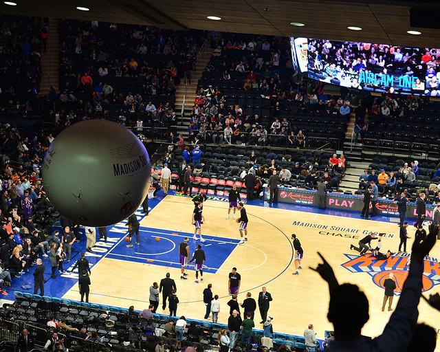 AirCam volando por el estadio de los Knicks