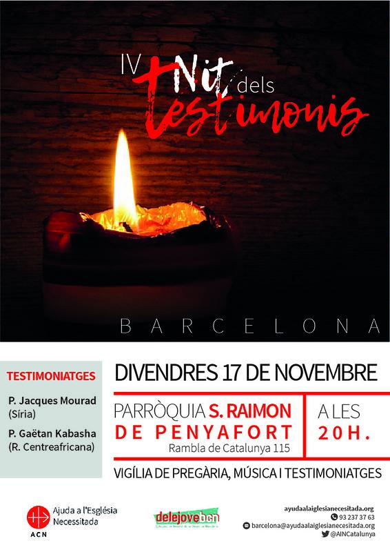 Noche de los Testigos en Barcelona