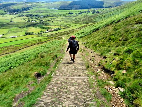 Descending via the 'tourist path'