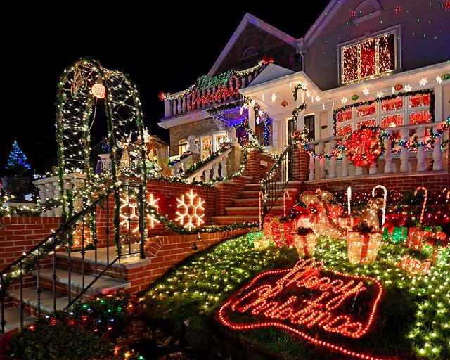 Casas decoradas de Nueva York en Navidad