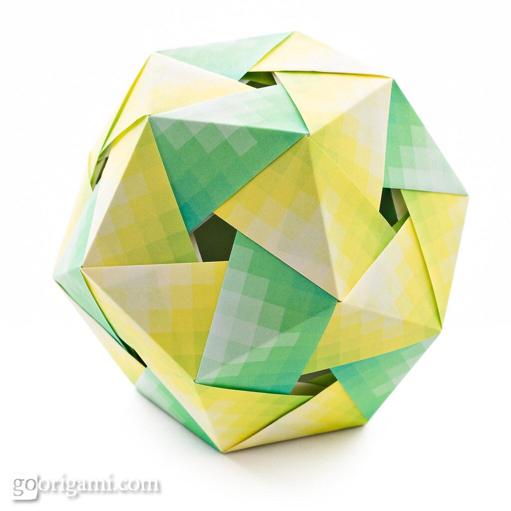 Origami Dodecahedron Origami Dodecahedron Tomoko Fuse Sq Flickr