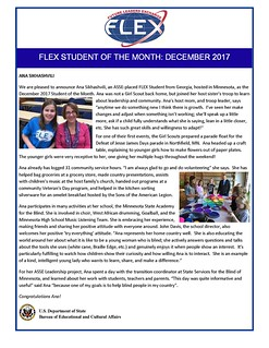Congratulations to the December 2017 FLEX Student of the Month, Ana from Georgia! | by FLEXprogram