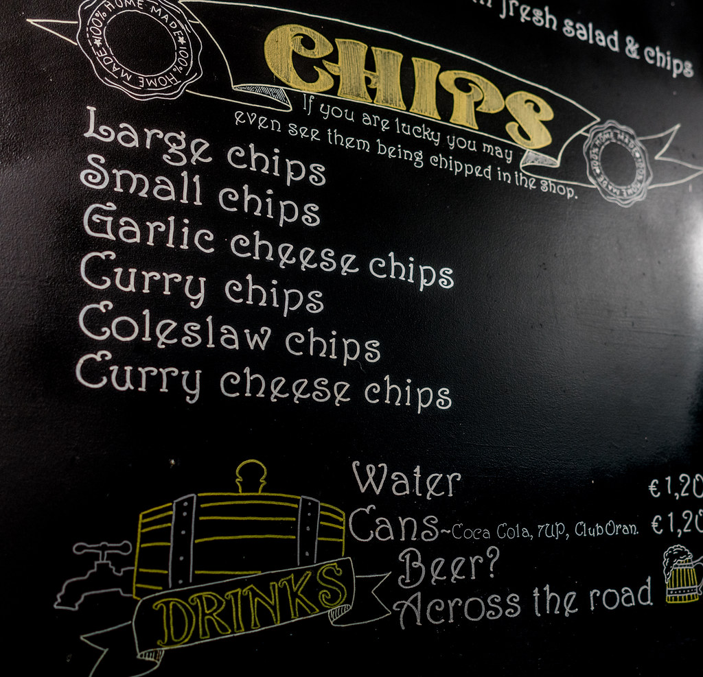 MY FIRST TIME IN A FISH AND CHIP SHOP FOR ABOUT FORTY YEARS [CORK]  003