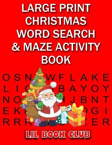 pdf free large print christmas word search maze activity flickr