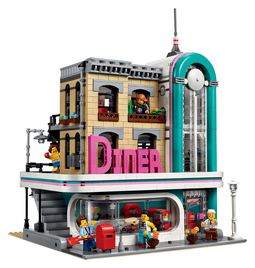 lego creator expert 10260 downtown diner release 2018. Black Bedroom Furniture Sets. Home Design Ideas