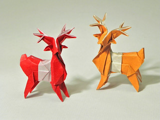 Christmassy deer | by Origami Roman