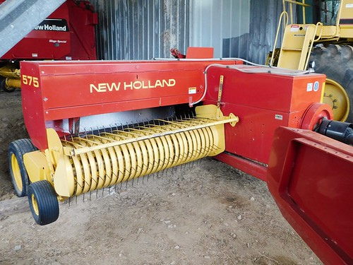 2008 New Holland 575 string tie baler | by thornhill3