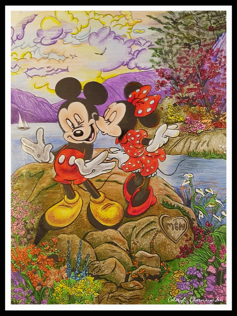 From The Disney Dreams Collection Colouring Book By Thomas Flickr