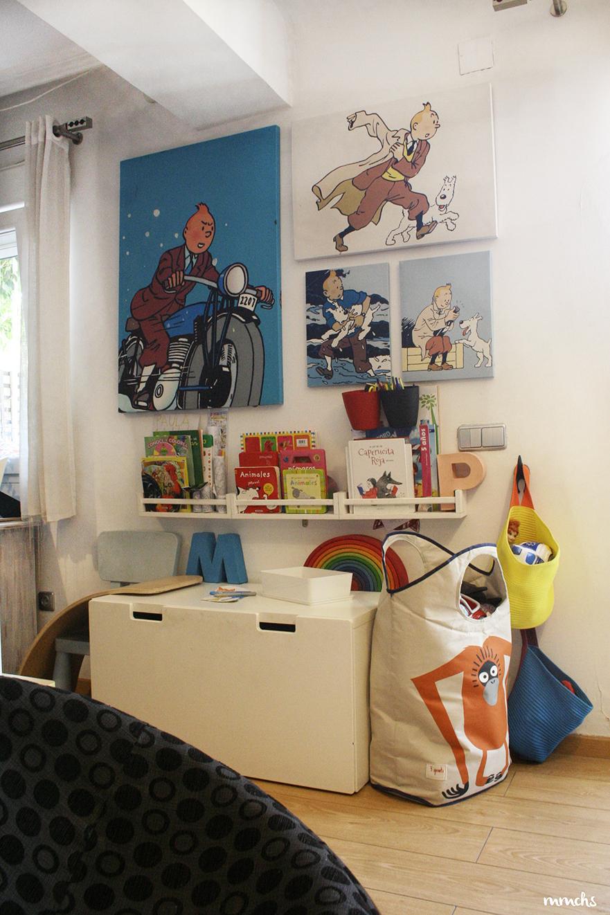 zona infantil para niños incorporada en el salón