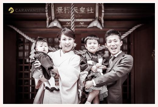 景行天皇社(愛知県長久手市)で七五三写真の出張撮影 女性カメラマンによる自然な姿のロケーションフォト・家族写真