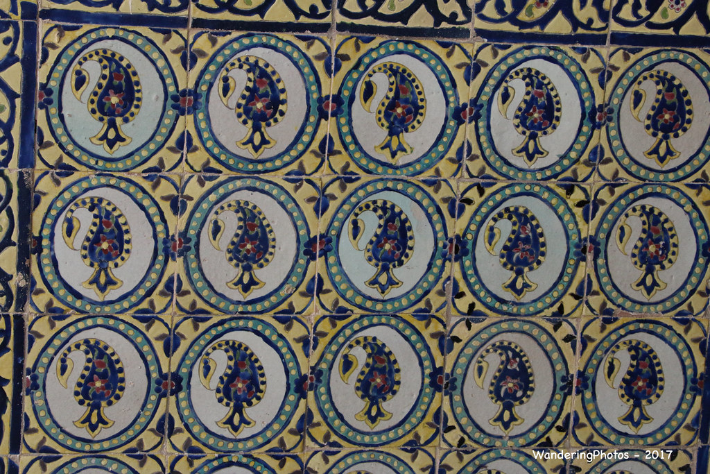 Repetitive Patterns On The Tilework Agha Bozorg Mosque Flickr Classy Repetitive Patterns