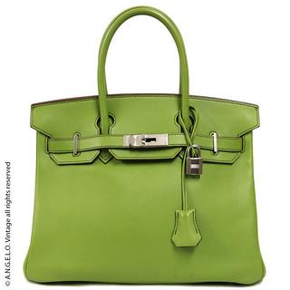 Birkin Hermès verde 30 cm