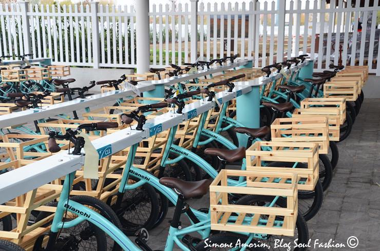 Logo na chegada do parque tem as bicicletas para irmos as compras! O utilizo das mesmas é gratuito basta apenas deixar um documento de identificação na recepção do parque.