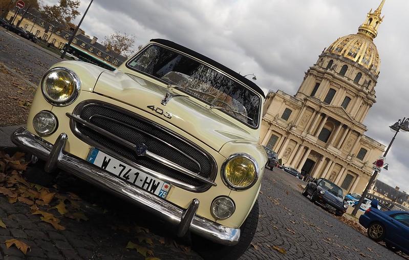 Peugeot 403 Cabriolet 1958 - Paris Invalides Novembre 2017  38465631796_d59e52d2ae_c