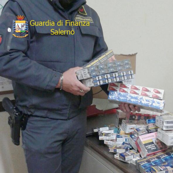 Eboli, sigarette di contrabbando: sequestrate 8,4 tonnellate