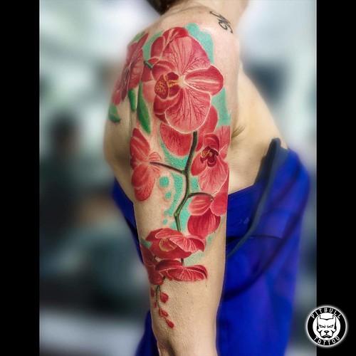 ink Flowers Tattoo #blackandgray...