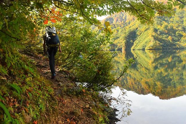 大鳥池から直登コースへ
