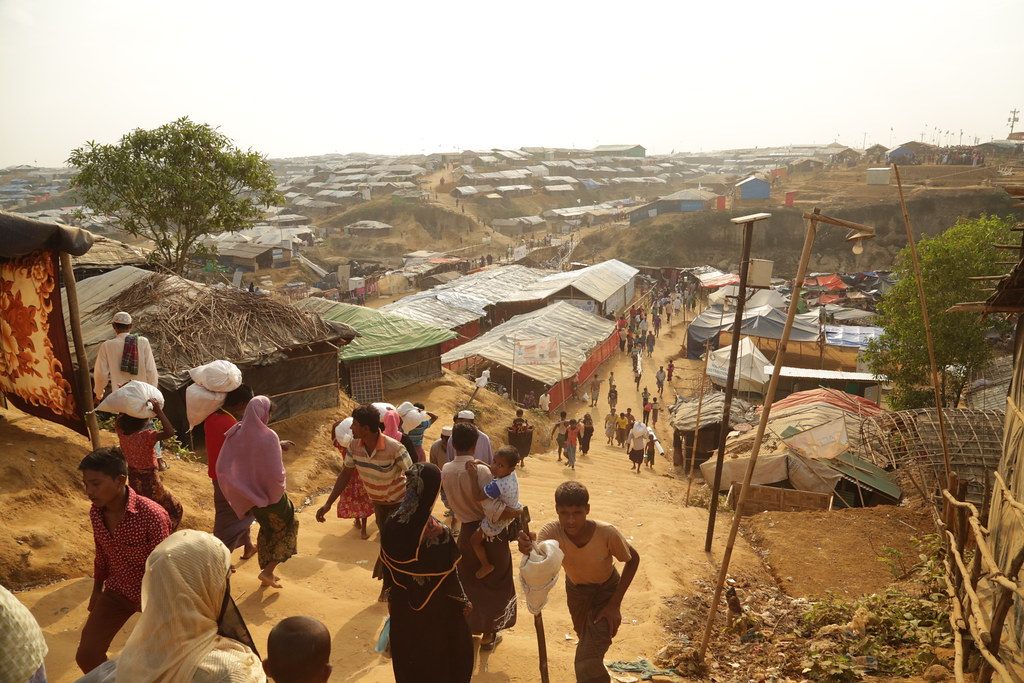 Kutupalong refugee camp near Cox's Bazar, Bangladesh