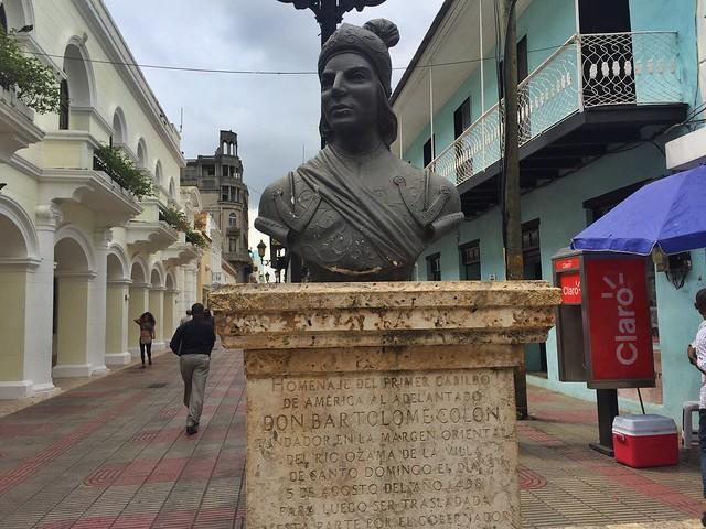 Calle El Conde en la zona colonial de Santo Domingo (República Dominicana)