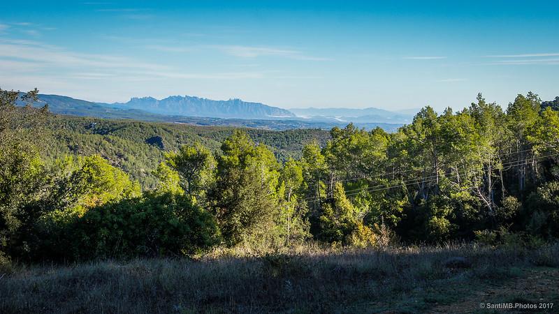 Vistas desde el Bosc de la Calç camino de Marmellar