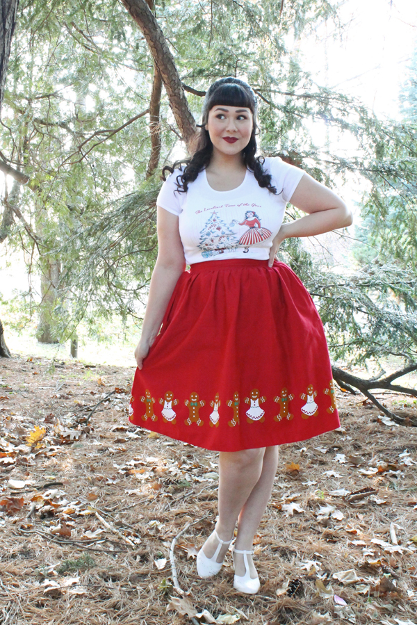 modcloth christmas skirt