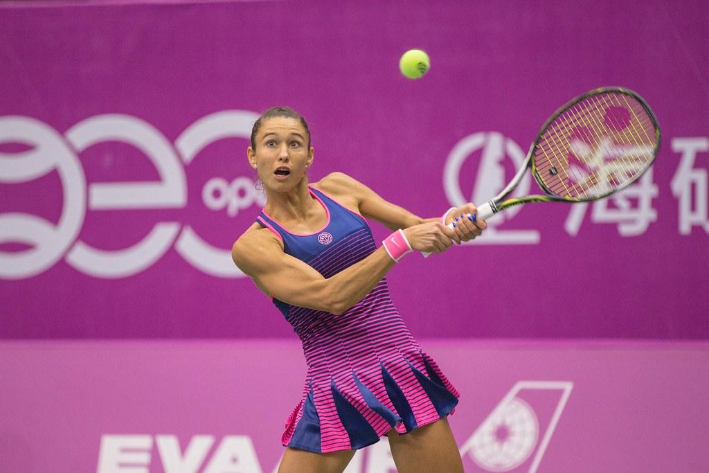 Vitalia Diatchenko會外賽首輪過關。(海碩整合行銷提供)