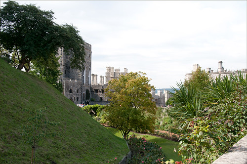 RAW image of Windsor Castle hidden garden