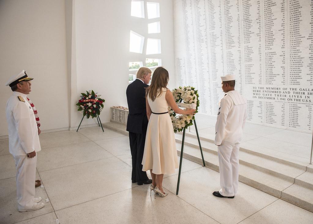 Image result for president trump in dang harbor vietnam