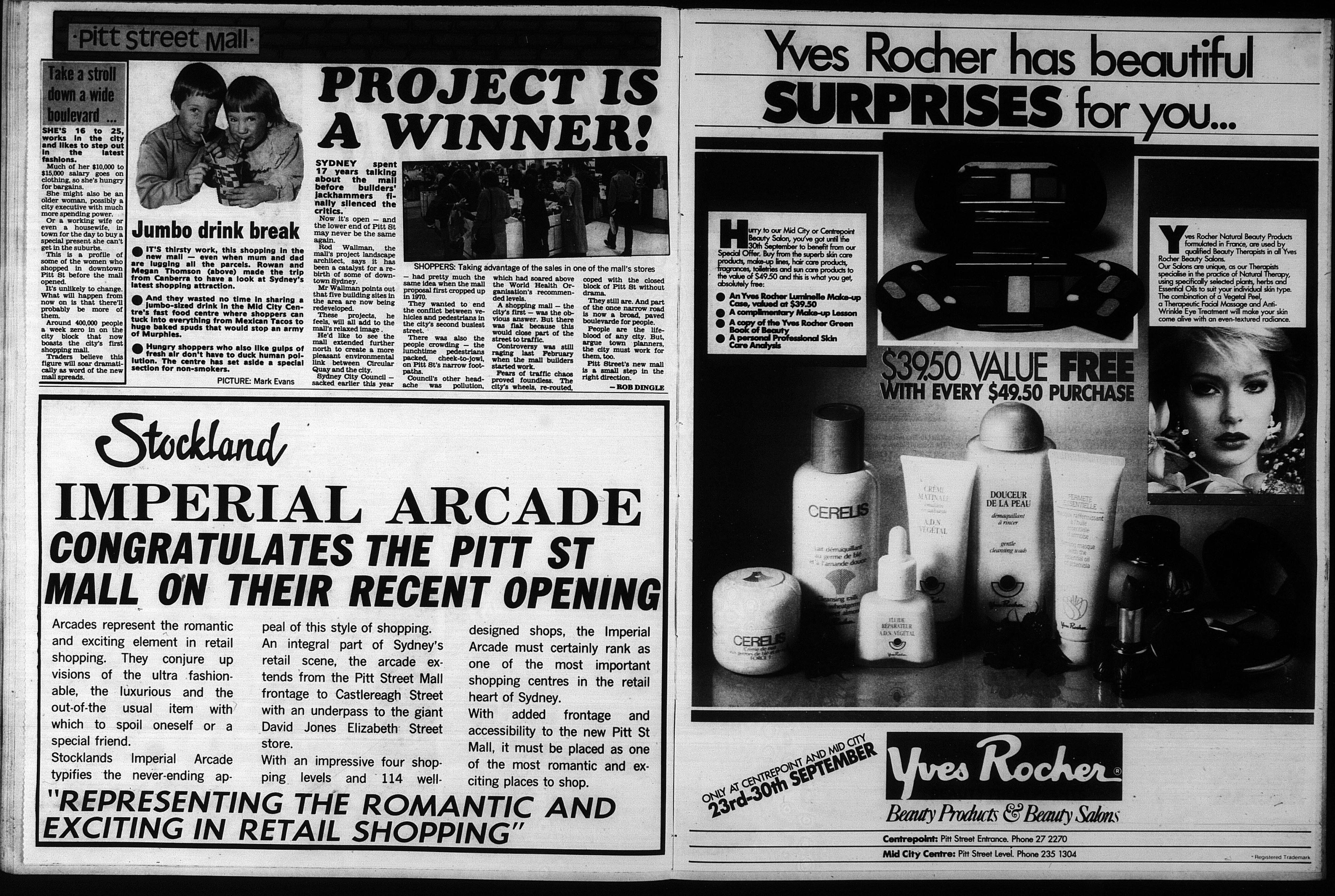 Daily Mirror On Flipboard By Daily Mirror: Fab Sydney Flashbacks: 1987: Pitt Street Mall Opening