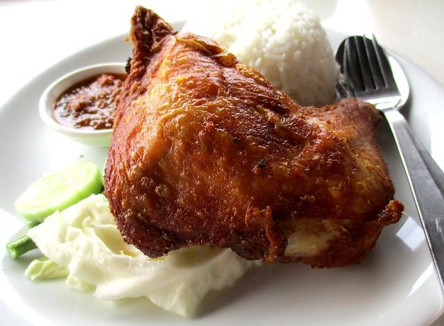 Warung BM ayam penyet rice