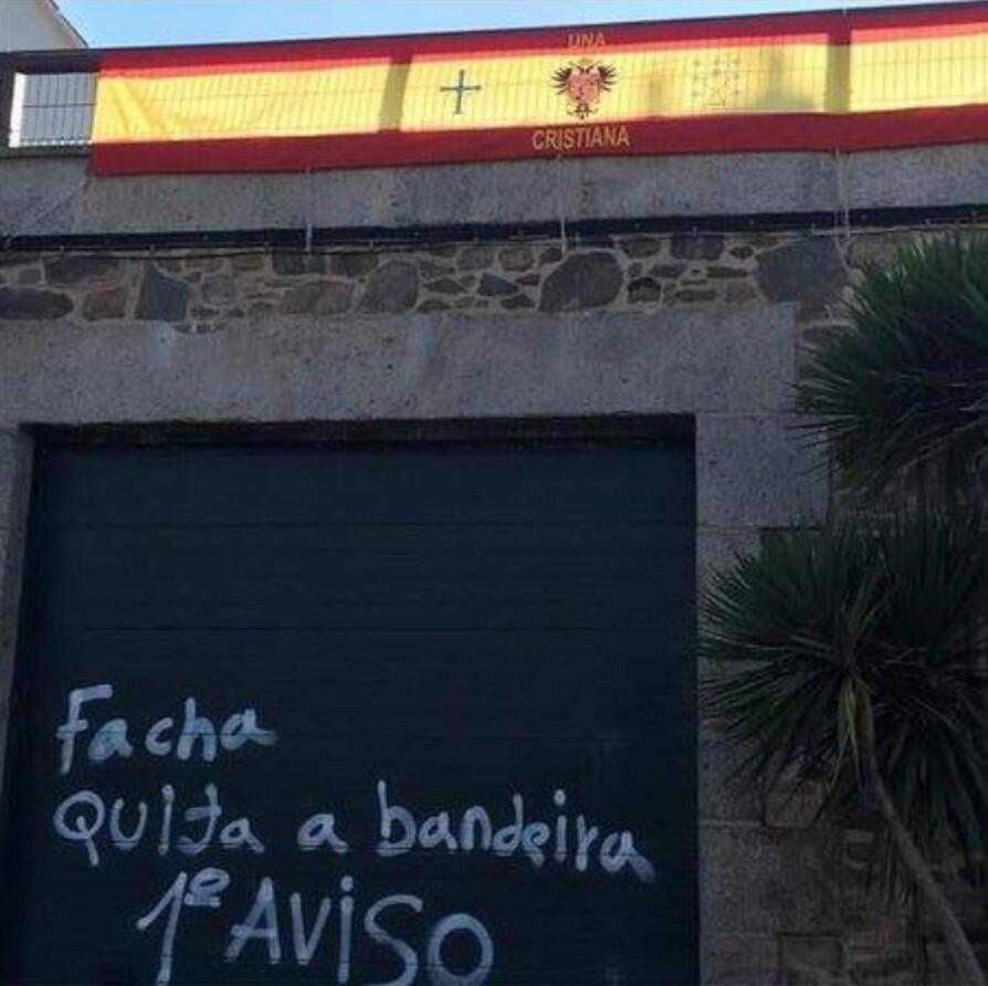 Amenazan a un vecino de Vigo por poner la bandera de España en el ...