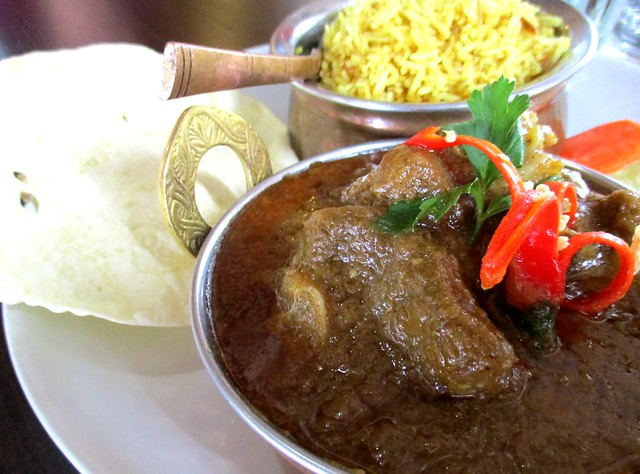 The Cafe IND Indian menu, mutton bryani